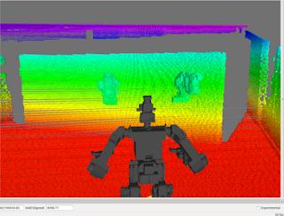 Rviz ros point cloud 3D using thormang3 lidar sensor