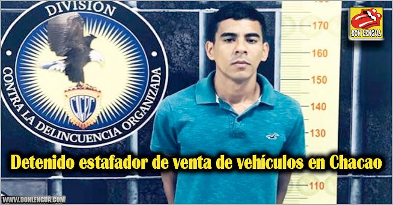 Detenido estafador de venta de vehículos en Chacao