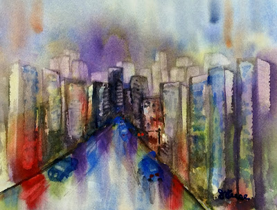 City Streets Watercolor - JKeese