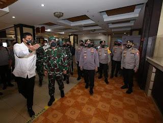 Tinjau Isoter Medan Eks Hotel Soechi,  Panglima TNI: Lekas Sehat, Keluarga Menunggu Dirumah