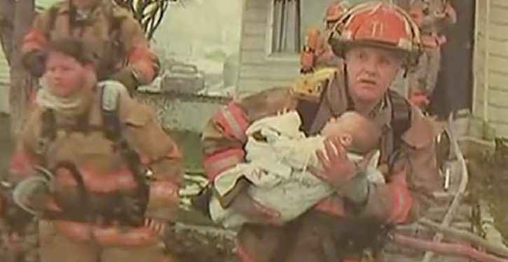 This firefighter saves a 9 month old baby