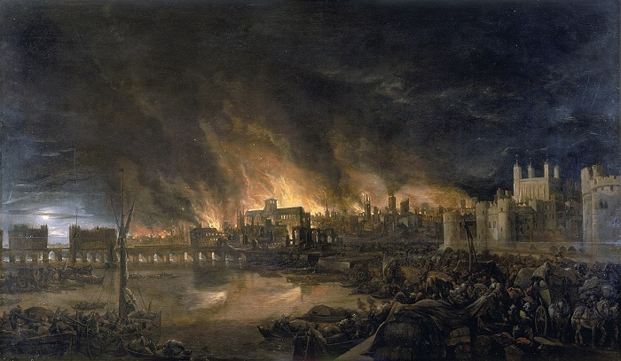 Great Fire of London - A devastating fire in London's history, destroying 13,200 houses and 87 parish churches