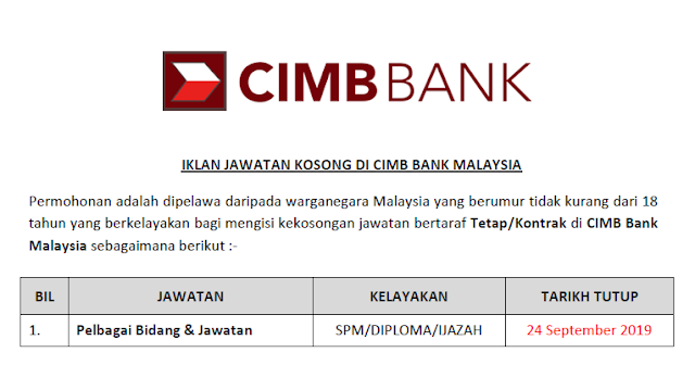 JOB CIMB BANK