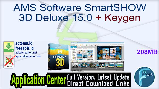 AMS Software SmartSHOW 3D Deluxe 15.0 + Keygen_ ZcTeam.id