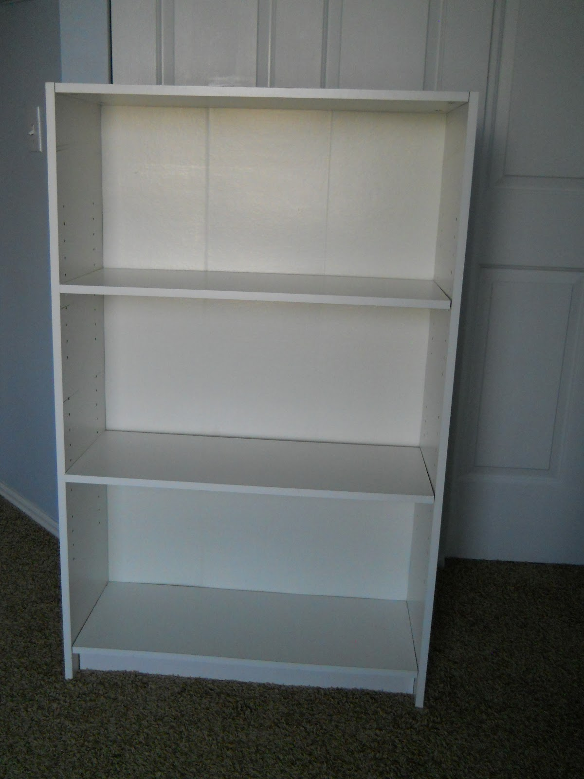 I Have Had This White Laminate Book Case For Years Think Bought It While Was In My Junior Year Of College