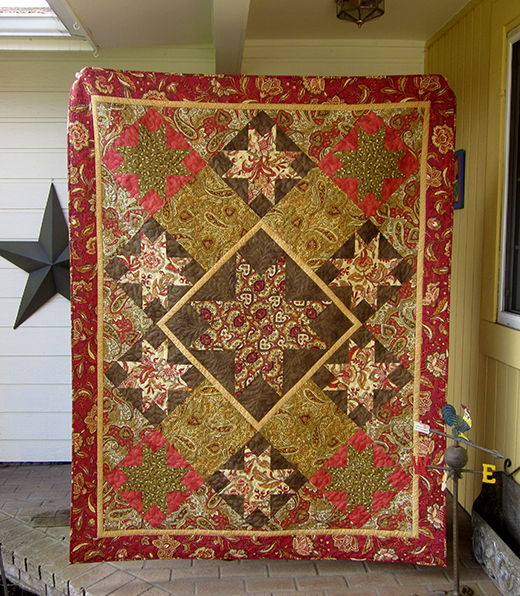 Guardian Stars Quilt designed by Sheila Sinclair Snyder of License to Quilt, featuring Harrington Collection
