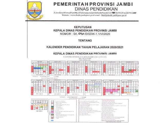 Kalender Pendidikan Tahun Pelajaran 2020/2021 SMK, SMA ...