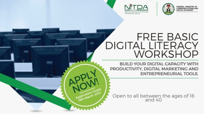 How to Apply for FG Free Digital Workshop For Nigerian Youths ...