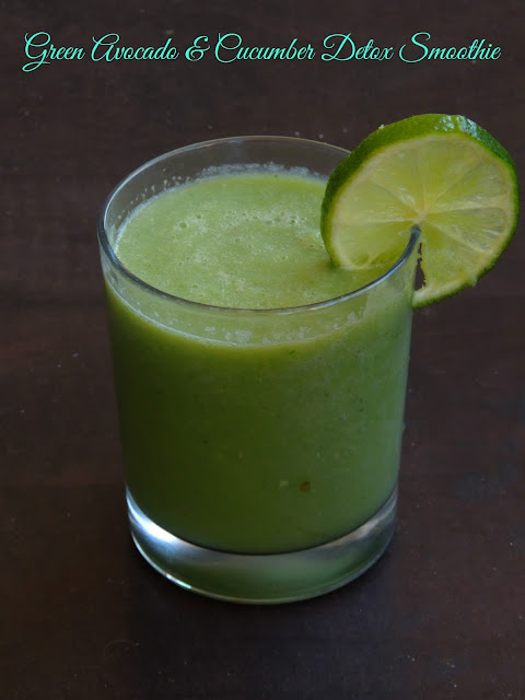 Green Avocado & Cucumber Detox Smoothie