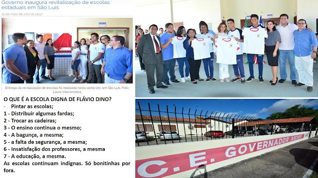 EXCLUSIVO: Flávio Dino já recebeu R$ 38.131.538,52 para escolas estaduais só de São Luís e elas continuam indignas