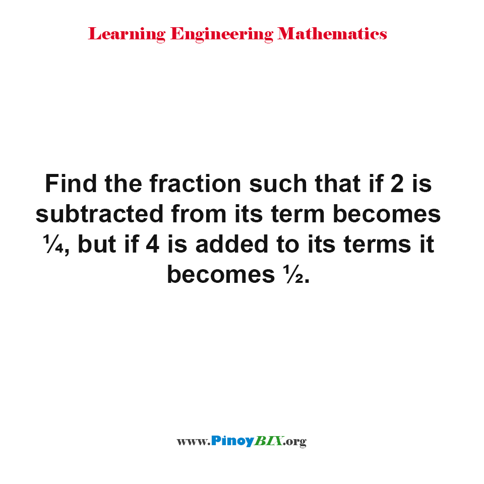 How to find the fraction?