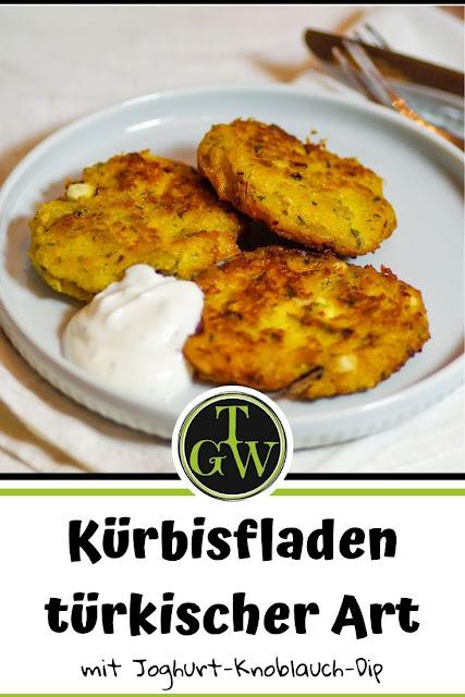 Kürbisfladen türkischer Art | vegetarisch - Foodblog Topfgartenwelt