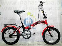 Sepeda Lipat United Stylo 16 Inci Red