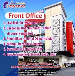 Lowongan Kerja Medan Terbaru Front Office Di Grand Impression Hotel Poskerjamedan Com