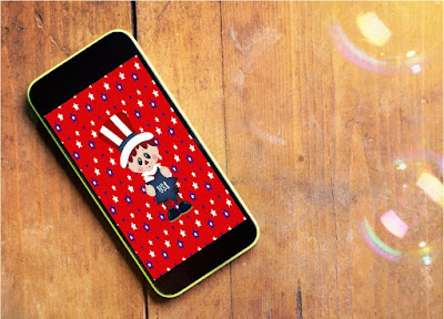 Decorate your iPhone with cute wallpapers for the month of July.  You'll be smiling every time you open your phone and enjoy a little bit of summer fun.  Choose from 4 great designs now.