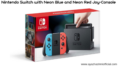 Nintendo Switch with Neon Blue and Neon Red Joy-Console - Amazon. nintendo switch console, nintendos, nintendo switch,  new nintendo,  nintendo switch releases,  nintendo switch news, nintendo switch release date price, nintendo switch pre order, nintendo switch games.