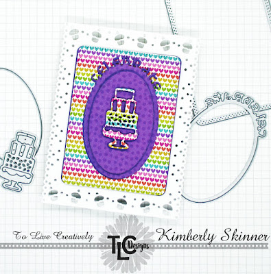 It's a bit of a rainbow filled happy day at TLCDesigns.shop today!  This card was designed with dies only!  Quick to design and fun to create!  TLCDesigns.shop has so many die collections to make it happen for you too!
