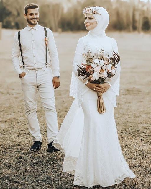 فستان زفاف ضيق بدون ذيل مميز وعصري موديل 2020-min