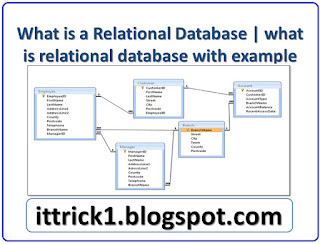 What is a Relational Database  what is relational database with example