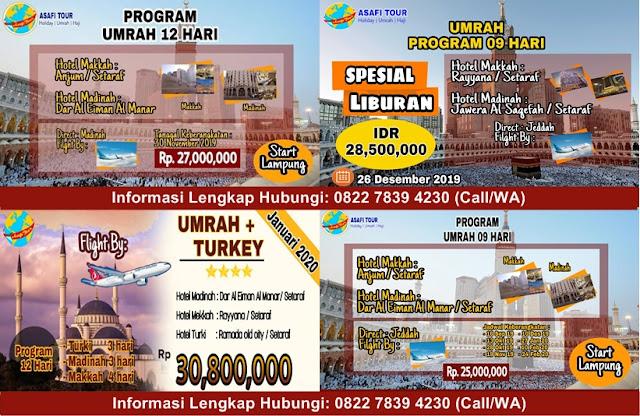 Agen Umrah & Haji | ASAFI Tour Lampung | Amitra Syariah | Program Umrah 9 Hari dan Pembiayaan Syariah Untuk Umroh Pertama Di Indonesia melalui Amitra Syariah
