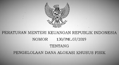 (PMK) Nomor 130/PMK.07/2019