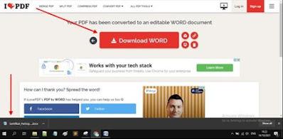 Gambar ilustrasi download file dokumen word