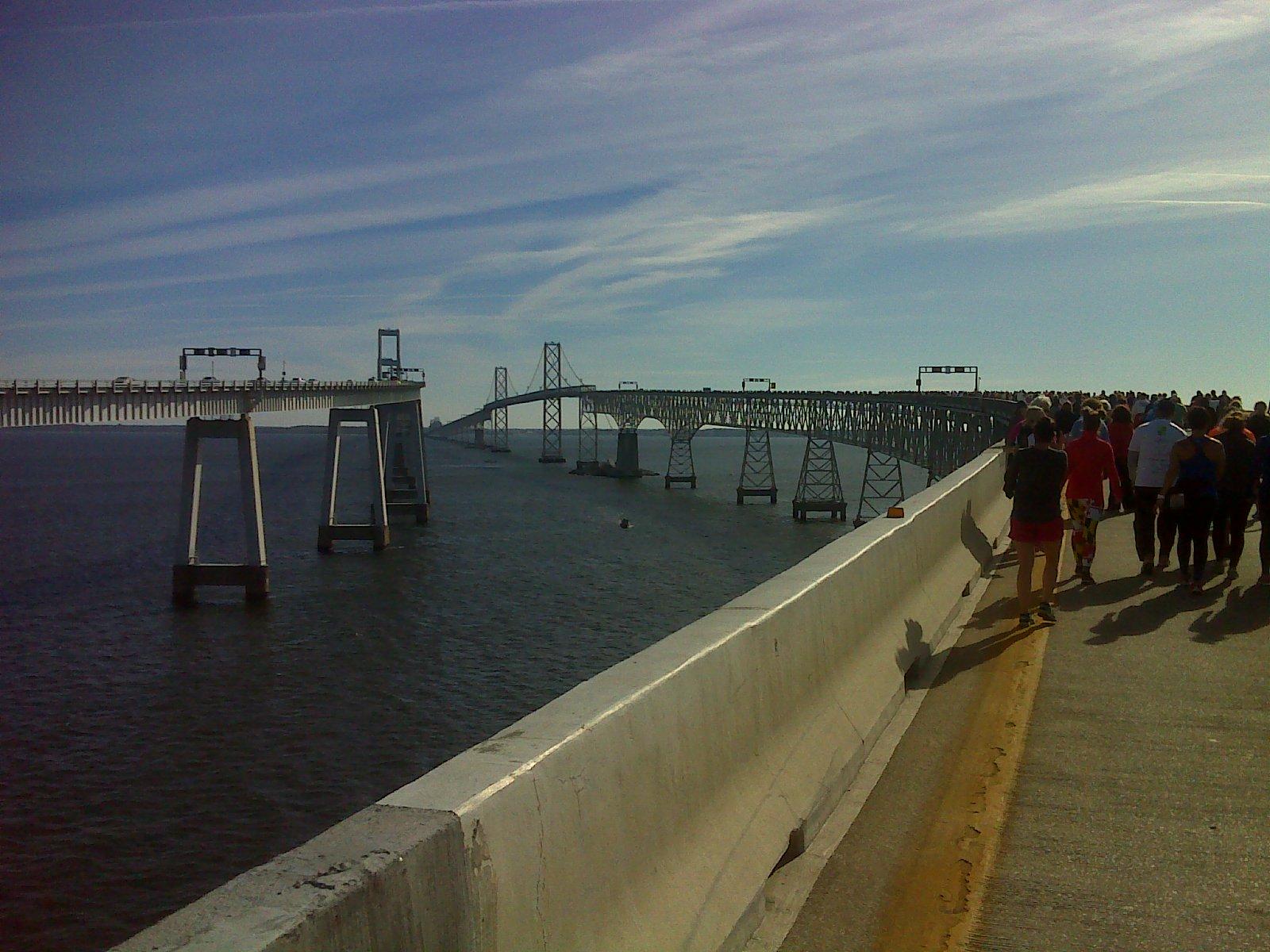 Heart and sole walking on water the chesapeake bay for Bay bridge run 2016