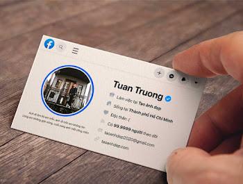 Tạo ảnh thẻ Card Visit theo phong cách profile Facebook