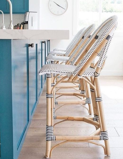 Riviera Stools for Modern Nautical Kitchen Design