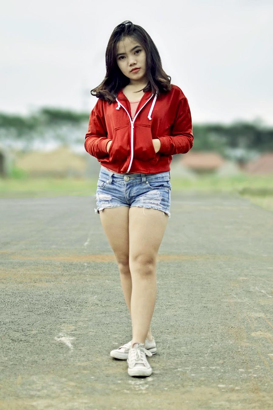 foto model IGO Sella ABG Malang rambut hitam manis