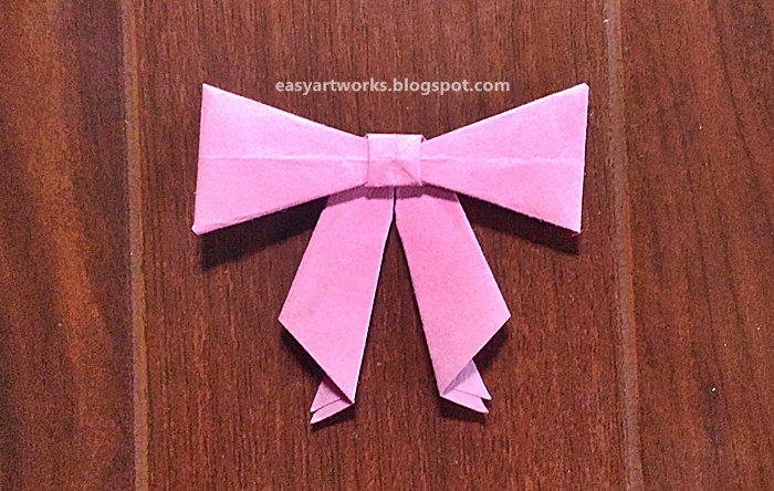 Origami Bow - How to make a Paper Bow easy step by step | Origami ... | 444x700