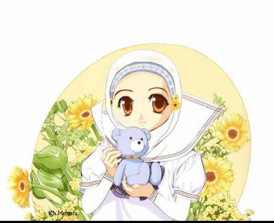 kartun-muslimah-berjilbab