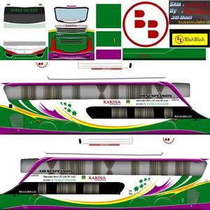 Livery Bussid Sumatera Karina Bimasena SDD
