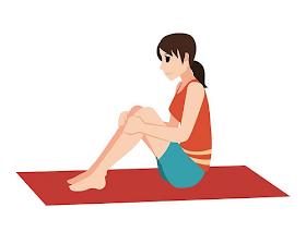 手撐地往後半躺,呼吸10次幫你消腹背贅肉!