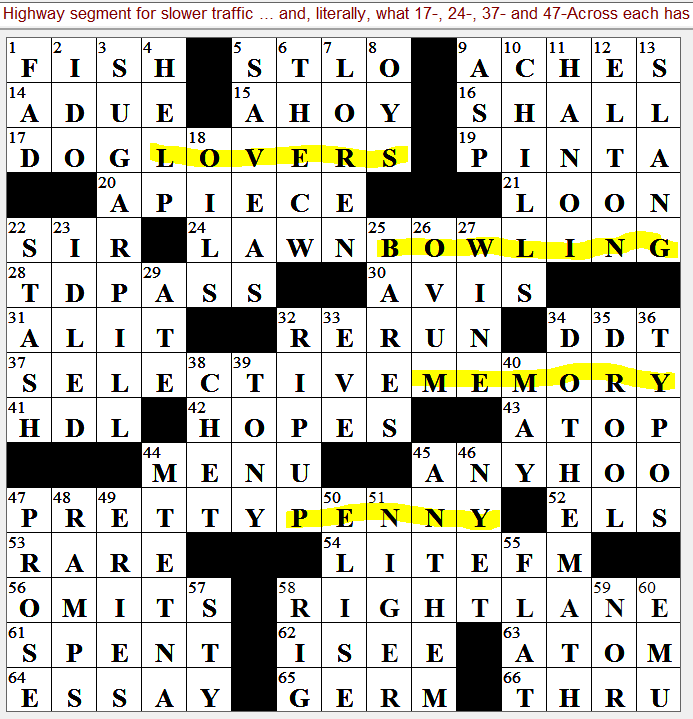 Lemon Lime Soft Drink Crossword