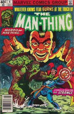 Man-Thing #4, Dr Strange and Baron Mordo
