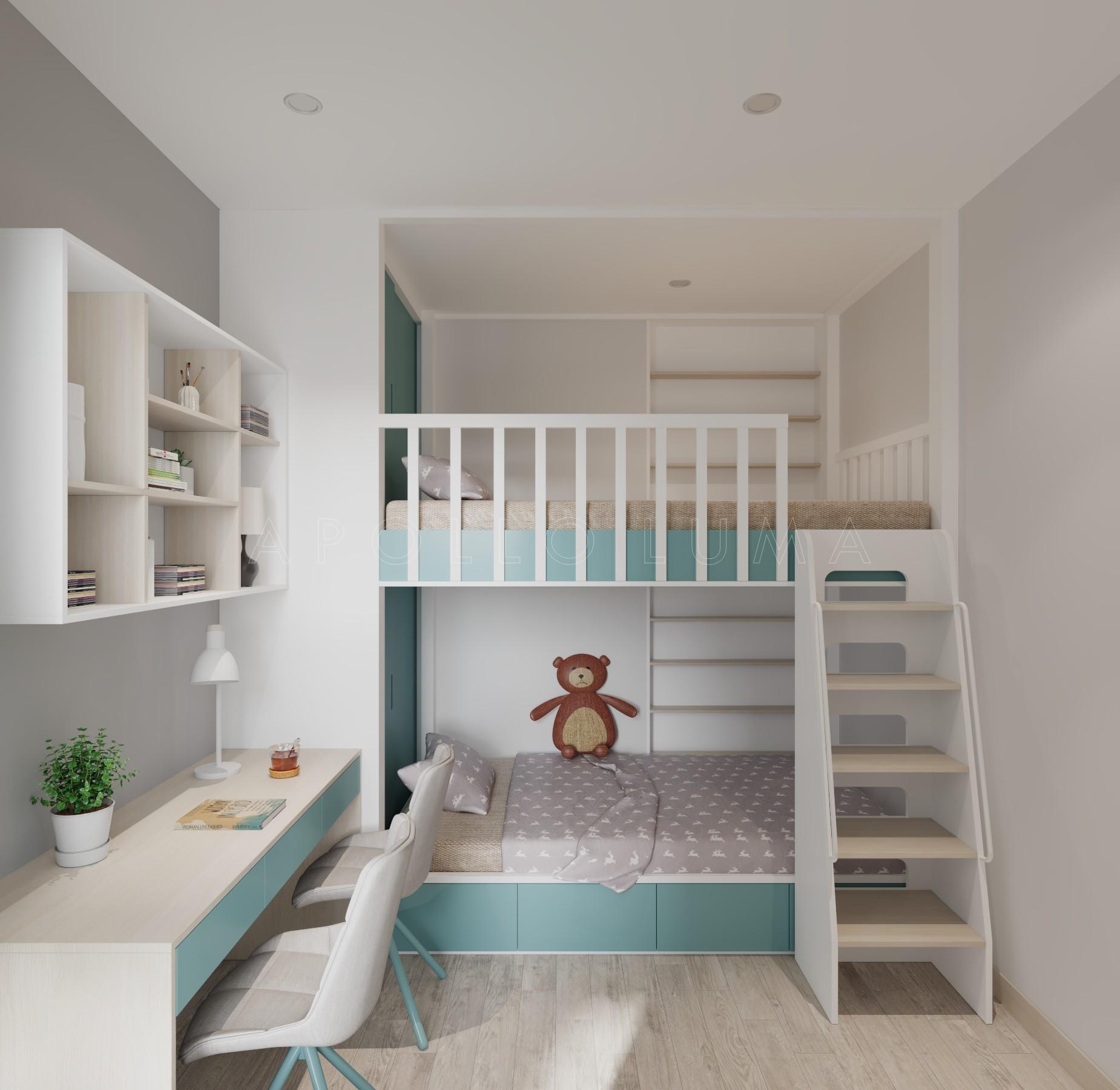 Thiết kế nội thất căn hộ 2PN+1 Vinhomes Smart City Tây Mỗ sang trọng