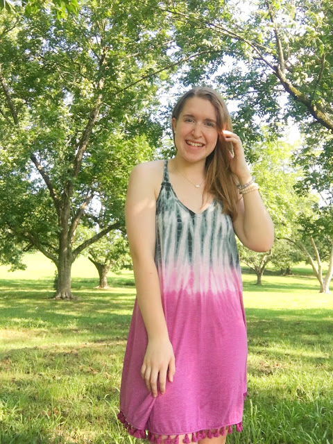 Tassel & Tie Dye Dress