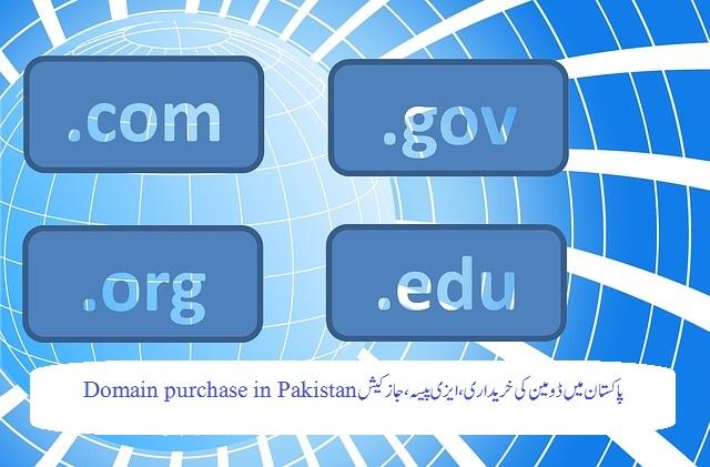 پاکستان میں ڈومین کی خریداری ، ایزی پیسہ ، جاز کیش Domain purchase in Pakistan
