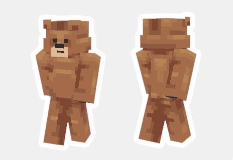 skin de oso minecraft