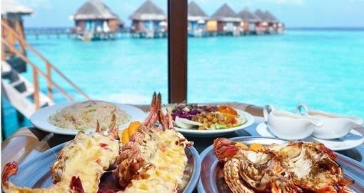 Eating in Maldives