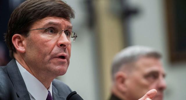 البنتاغون: عزل وزير الدفاع الأمريكي عن نائبه بسبب فيروس كورونا