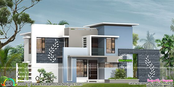 Designer home contemporary flat roof