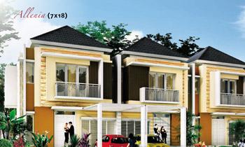 tampak depan rumah minimalis ukuran 7x18 meter 4 kamar tidur 2 lantai