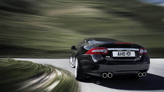Jaguar XKR black color racing car photo