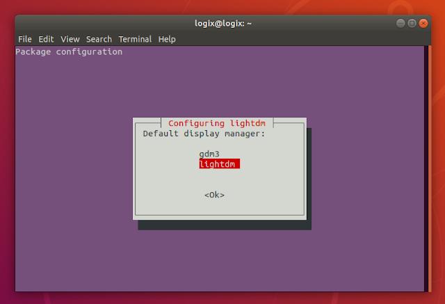Ubuntu 18.04 configure lightdm gdm3