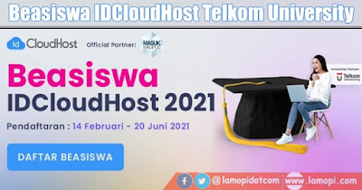 Beasiswa IDCloudHost Telkom University 2021/2022