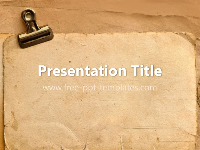antique ppt template