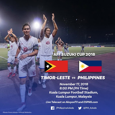 Live Streaming Timor Leste vs Philippines AFF Suzuki 2018 17.11.2018
