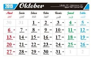 hari penting nasional dan internasional bulan oktober 2019-hari peringatan-hari libur-tanggal merah-cuti bersama bulan oktober-libur sekolah